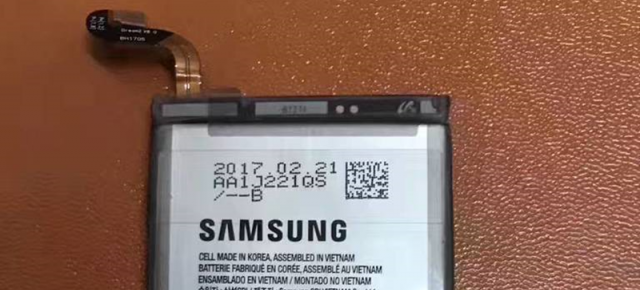 Samsung Galaxy S8 Plus are bateria de 3500 mAh fotografiată, aparent