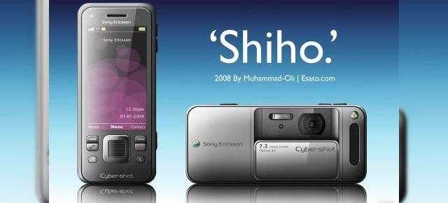 Telefonul Shiho, un Sony Ericsson Cyber-shot stralucit