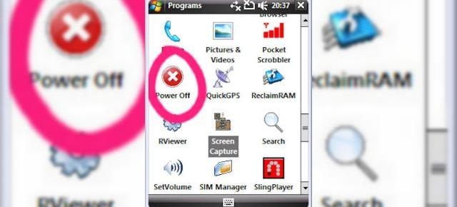 Shutdown pentru telefonul tau Windows Mobile, in stil desktop