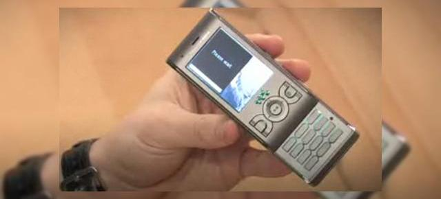 Sony Ericsson W595 surprins intr-un clip video