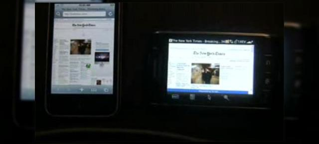 iPhone 3G versus BlackBerry Storm intr-un test al browserelor (Video)