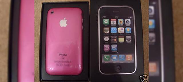 iPhone 3G, in varianta roz pe eBay
