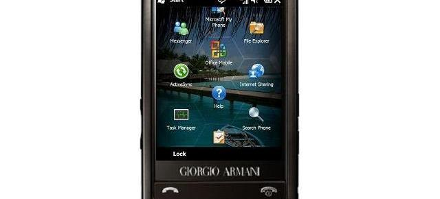 Samsung va produce un telefon Windows Mobile Giorgio Armani