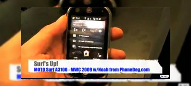 Motorola Surf A3100, telefon cu touchscreen in actiune la MWC 2009 (Video)