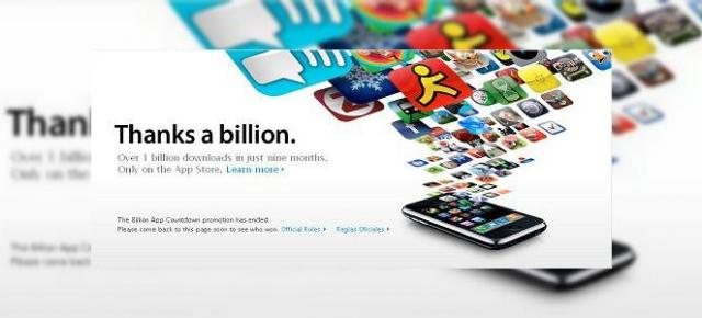 1 miliard de aplicatii descarcate prin Apple App Store, iPhone isi mentine suprematia
