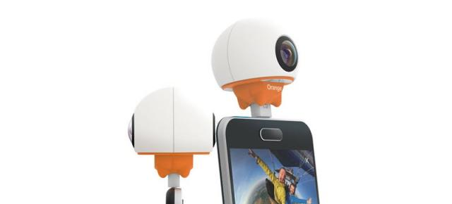 Orange anunță o cameră video ce filmează la 360 grade; se numește Orange Live Cam și aduce port USB Type-C/microUSB
