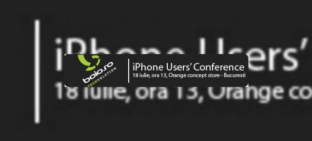 iPhone Users' Conference Romania: impatimitii iPhone-ului se intrunesc pe 18 iulie