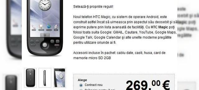 Vodafone Romania ofera acum HTC Magic, incepand de la 269 EURO