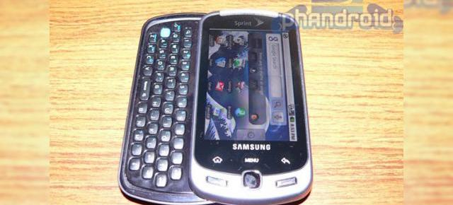 Samsung Instinct Q, terminal Android QWERTY scapat pe web