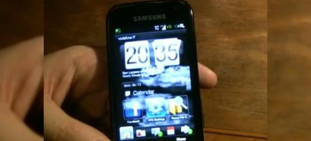Samsung Omnia 2 ruleaza ROM-ul lui HTC HD2 (Video)