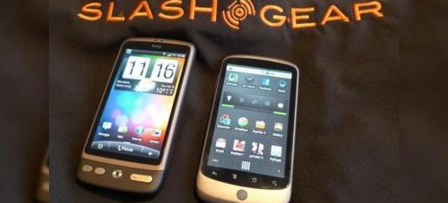 Slashgear: HTC Desire versus Google Nexus One (Video)