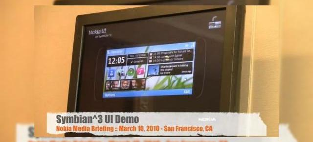Symbian^3, prezentat intr-un demo video; soseste in 2010