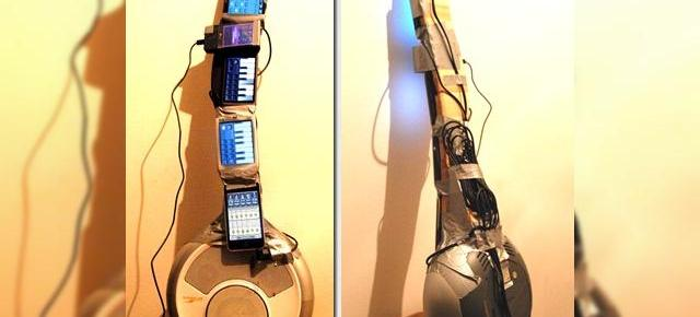 Chitara din telefoane mobile, o super inventie de geek rocker (Video)