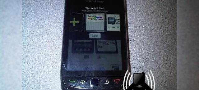Noul BlackBerry Bold 9800 (Slider) fotografiat live; ruleaza noul browser WebKit