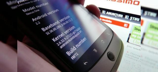 Android 2.2 Froyo beta FRF72, scapat pe Nexus One