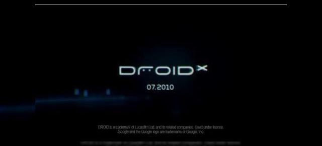 Motorola Droid X are o reclama teaser exceptionala (Video)