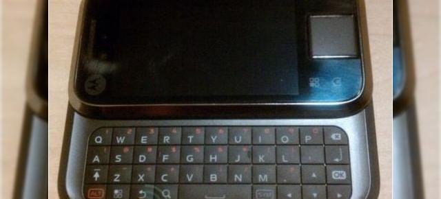 Imagini in premiera cu Motorola Sage, un nou terminal Android 2.1 d270687a69