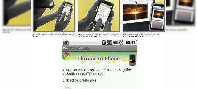 Trimite linkuri, harti si numere de telefon pe handseturi Android cu Chrome to Phone (Video)