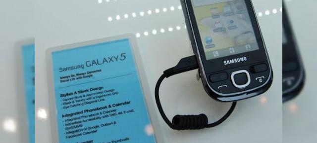 Noi imagini cu Samsung Galaxy 5, terminal Android 2.1