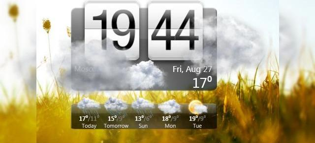 Widgetul Meteo/Ceas din HTC Sense, acum si pe PC (Video)