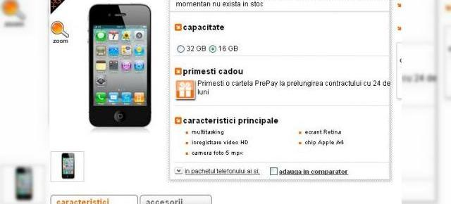 iPhone 4 lansat oficial de Orange Romania