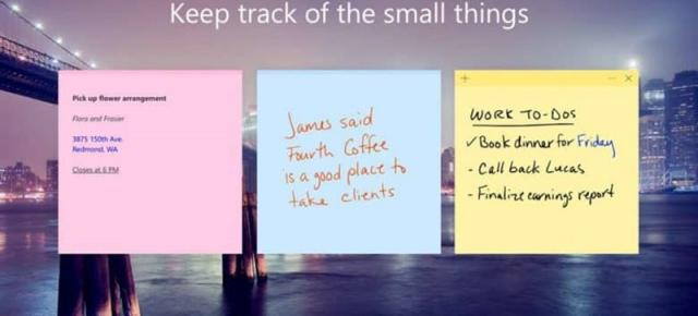 Microsoft va aduce Sticky Notes pe iOS şi Android