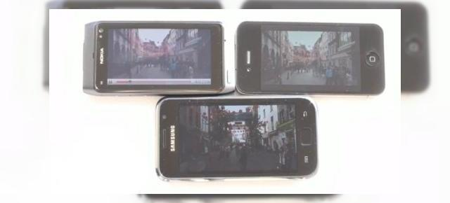 iPhone 4 versus Samsung Galaxy S si Nokia N8: batalia display-urilor (Video)
