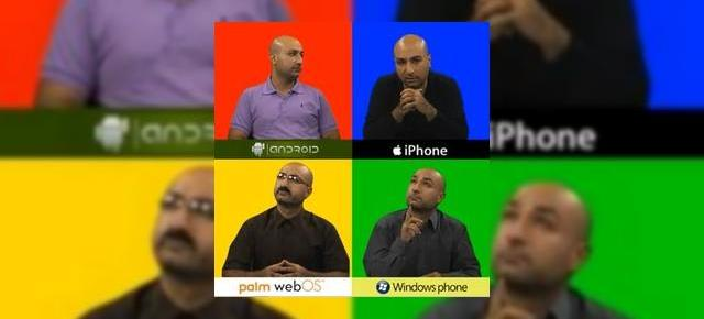 Parodie: iOS arogant, Android 2.2 nesigur, Windows Phone 7 calculat și Palm webOS făcut de râs (video)