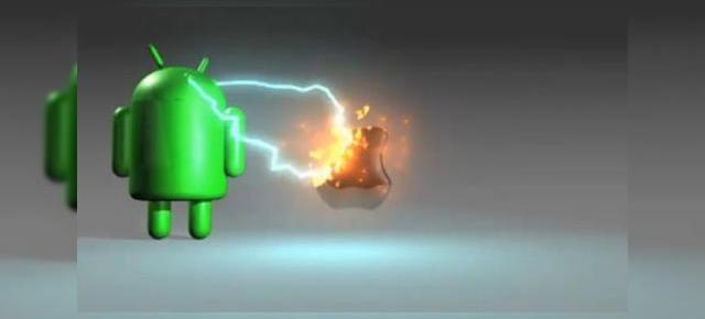 Android distruge Apple! Bătălia logo-urilor (Video)