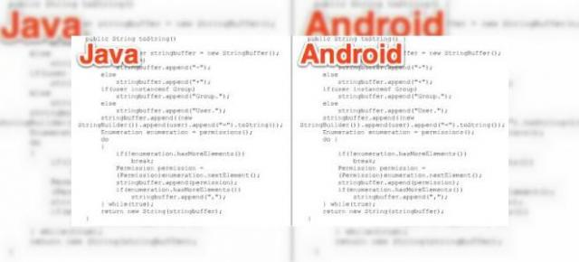 Android copiază cod direct din Java, s-a ajuns la proces: Oracle versus Google