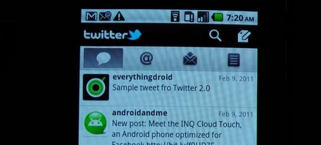 Twitter 2.0 pentru Android: iată un preview al aplicației (Video)