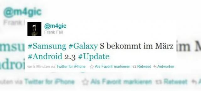 Android 2.3 pe Samsung Galaxy S din martie!
