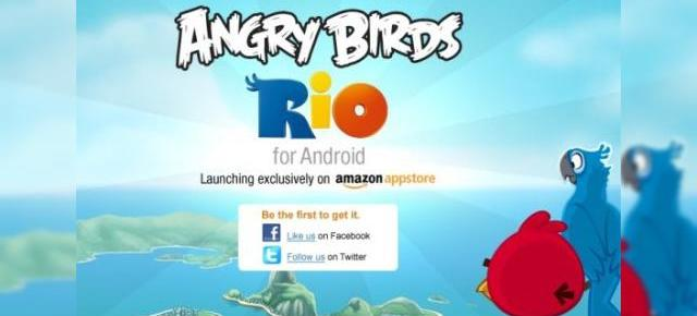 Noul Angry Birds (Rio) sosește pe Android exclusiv prin Amazon App Store