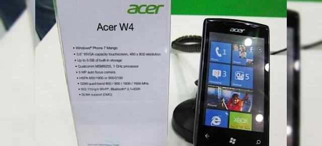 Iată primul telefon Windows Phone Mango! Acer W4 surprins la Computex! (Video)