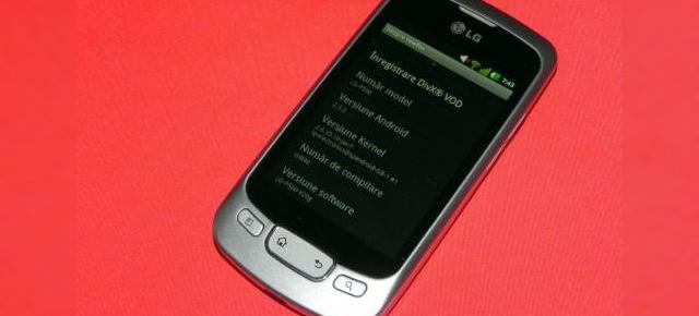 Android 2.3.3 Gingerbread pe LG Optimus One P500