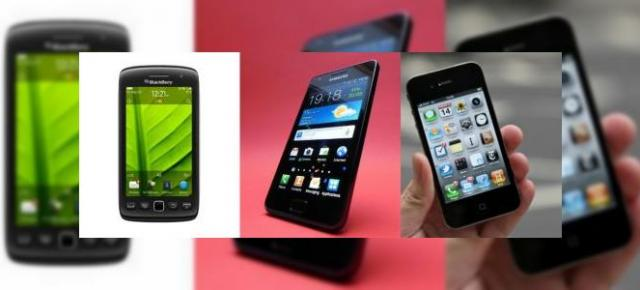 BlackBerry Torch 9860 vs Samsung Galaxy S II vs iPhone 4 - comparativ hardware