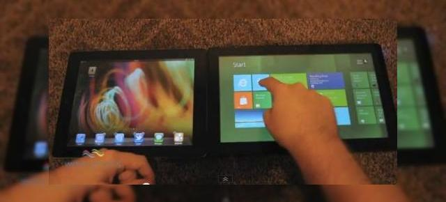 iOS 5 (iPad 2) versus Windows 8 (Video)