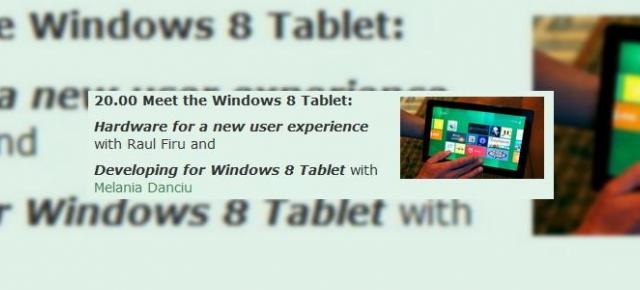 Tableta Windows 8 in Romania, sub forma de prototip prezentat la Timisoara Mobile Meetup, editia a zecea