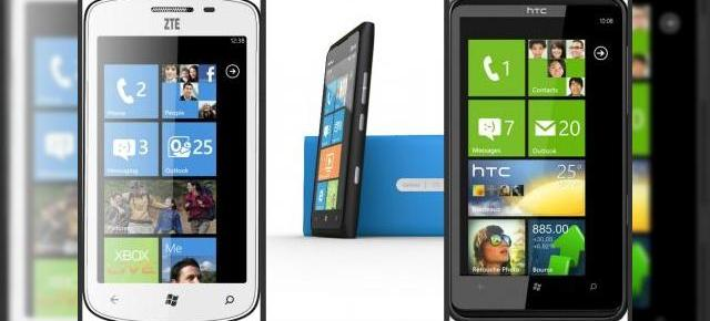 Telefoane cu Windows Phone: ZTE Tania vs Nokia Lumia 900 și HTC HD7
