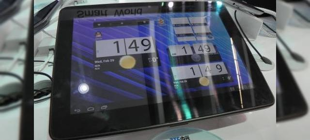 MWC 2012: ZTE PF100 preview - o nouă tableta quad core cu Android 4.0 (Video)