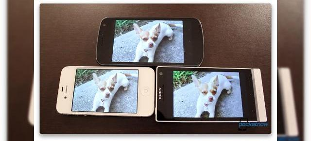 Test pentru ecran: Sony Xperia S vs Samsung Galaxy Nexus vs iPhone 4S [video]