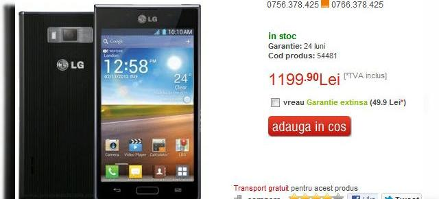 LG Optimus L7 disponibil prin Quickmobile.ro, iată prețul! (Video)