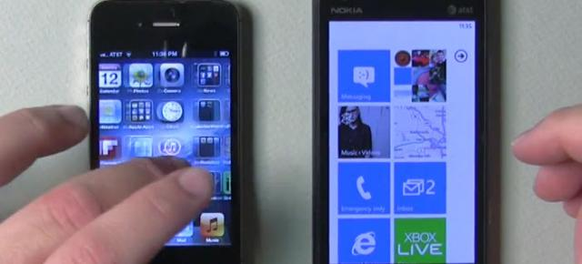 iPhone 4S vs Nokia Lumia 900 - comparație (video)