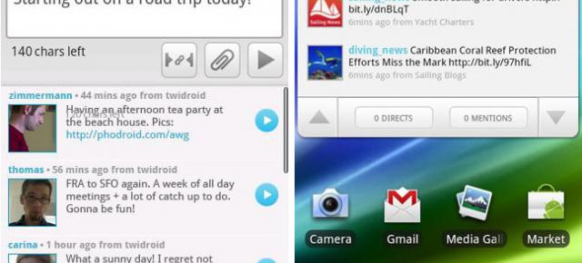 Twidroyd Review - un client Twitter interesant pentru Android (Video)
