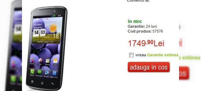LG Optimus True HD LTE P936 a ajuns la QuickMobile, telefon LG cu super ecran HD