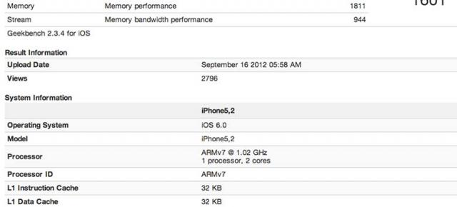Geekbench și rezultatele comparate ale iPhone 5, iPhone 4S, Samsung Galaxy S III, HTC One X