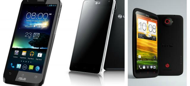 ASUS Padfone 2 vs LG Optimus G vs HTC One X+ - lupta Între telefoane Android de top cu procesor quad-core se Întețește la final de an