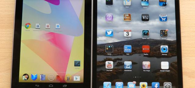 iPad Mini Versus Nexus 7: bătălia mini tabletelor Google și Apple (Video)