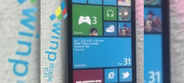 Huawei W2, model Windows Phone 8 high end acum În imagini; Ar putea veni la CES 2013!
