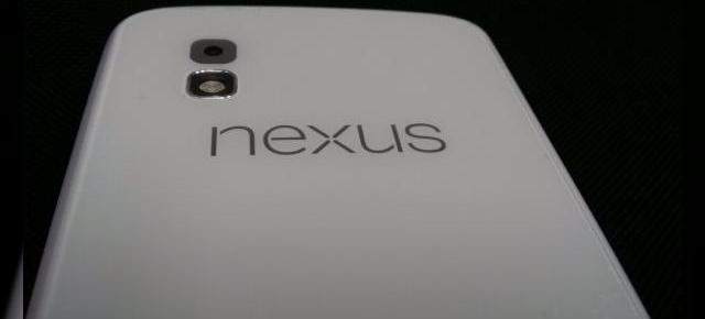 Google Nexus 4 Își face apariția pe alb Într-o nouă imagine